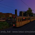 Streckenkunde im Sonnenuntergang
