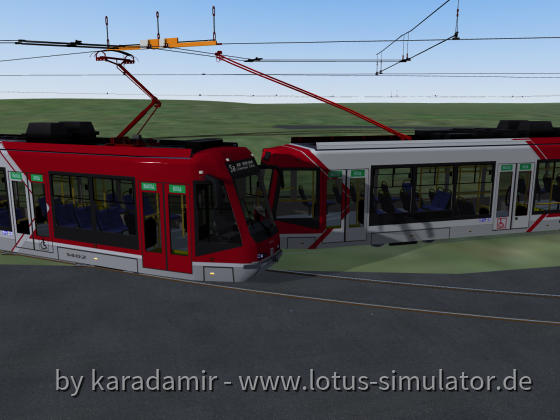 Tram and trolleybus crossing test.
