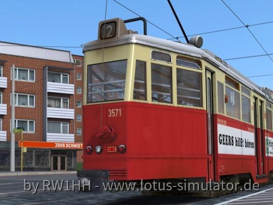 3571 – inmitten hunderter Straßenbahnen im Museum