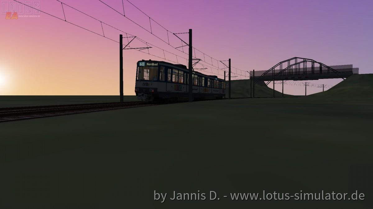 Mit dem B80D in den Sonnenuntergang