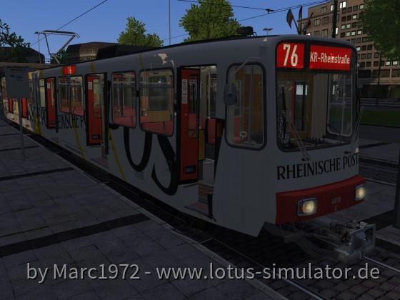 Düsseldorf 1981 - Dämmerungsfahrt auf der 76