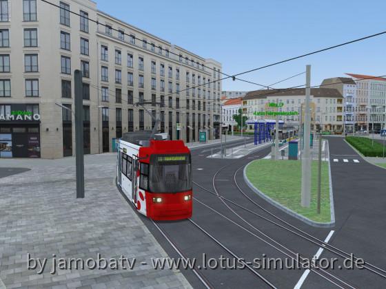 Ausfahrt der 11 Richtung Hauptbahnhof