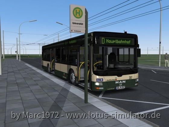 Sonnenburg V2 - Bus in der HVZ (Linie D)