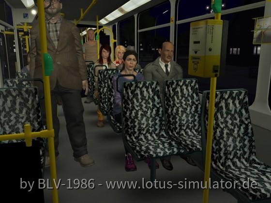 Fahrgäste und Licht Optimierung