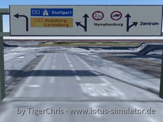 Schilderbrücke vor der Laimer Unterführung ( Team München )