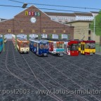 Wenn man den Pc mal belasten möchte: Sehr viele Fahrzeuge des Simulators auf einem Bild!