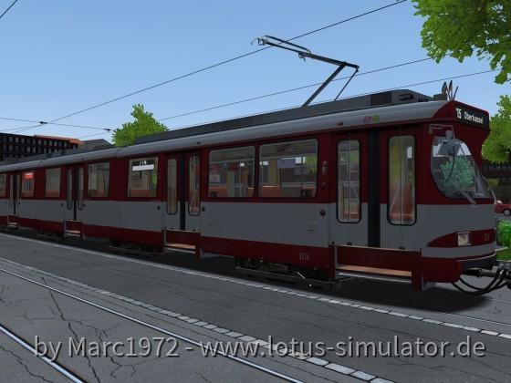 Düsseldorf 1981 - GT8SU auf Linie 715